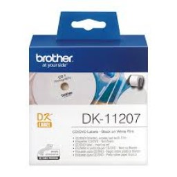 Brother Etiquetas para CD/DVD 58mmx58mm, 100 unidades - película plastica