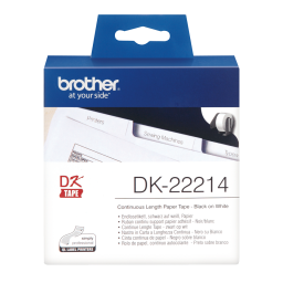 Brother Cinta de papel continuo blanca 12mm x 30,48m