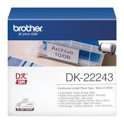 Brother Cinta de papel continua blanca 102mm x 30,48m