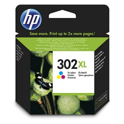 HP OfficeJet 3636/3830/3832/DeskJet 1110 All-in-One Nº302XL Cartucho Tricolor