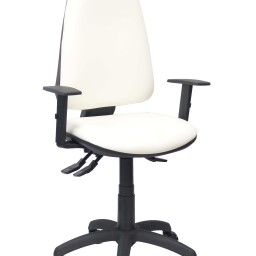 Silla Elche sincro similpiel blanco con brazos regulables