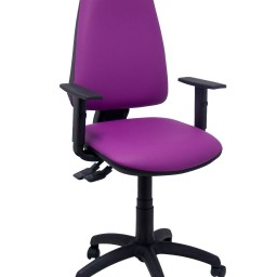 Silla Elche sincro similpiel morado con brazo regulable