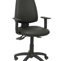 Silla Elche sincro similpiel negro con brazo regulable