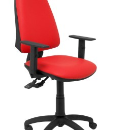 Silla Elche sincro similpiel rojo con brazo regulable