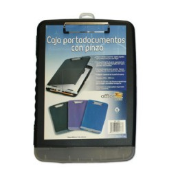 Caja portadocumentos con pinza negra Office Box 9568