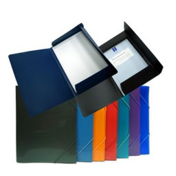 Carpeta gomas Din A-4 azul Office Box 51628