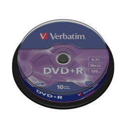 SP10 DVD+R 4,7GB 16X Verbatim 43498