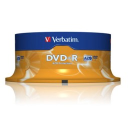 SP25 DVD-R 4,7GB 16X Verbatim 43522
