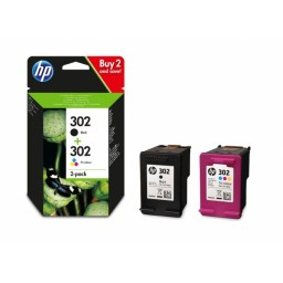 HP OfficeJet 3830 Pack 2 Cartuchos F6U66AE (nº302) + F6U65AE (nº302)